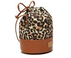 Bolsa Bucket Animal Print Tecido Onça