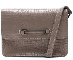 Crossbody Croco Bridão Cinza