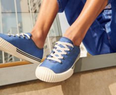 [Reposição Garantida] Tênis Azul Lona Alê