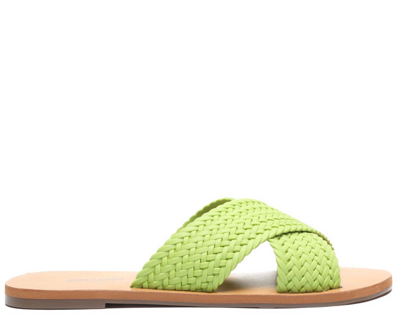 Rasteira Verde Color  Vibes Trançada | Anacapri