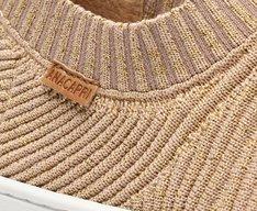 Tênis Slip On Bege Knit
