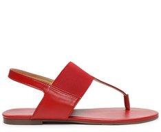 Sandália Vermelha Elástico