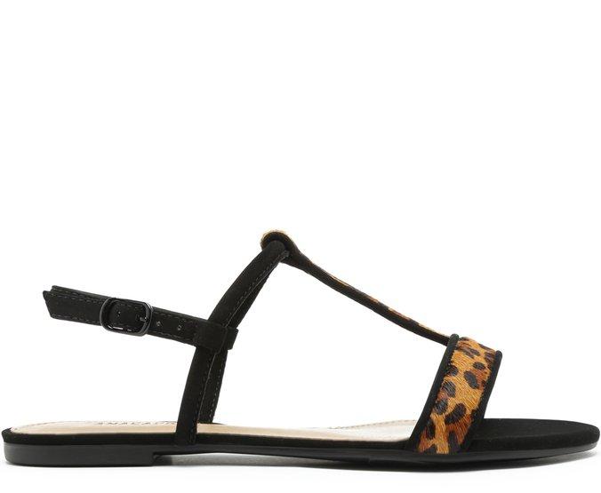 Sandália Tiras Mini Onça