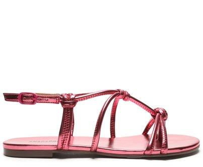 Sandália Pink Metalizado Nós