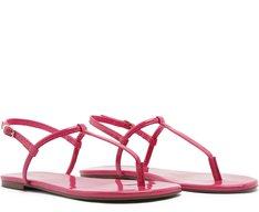 Sandália Slim Verniz Pink