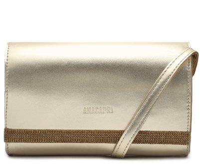Bolsa Dourada Detalhe Brilho