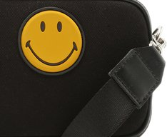 Crossbody Smiley Lona Preta