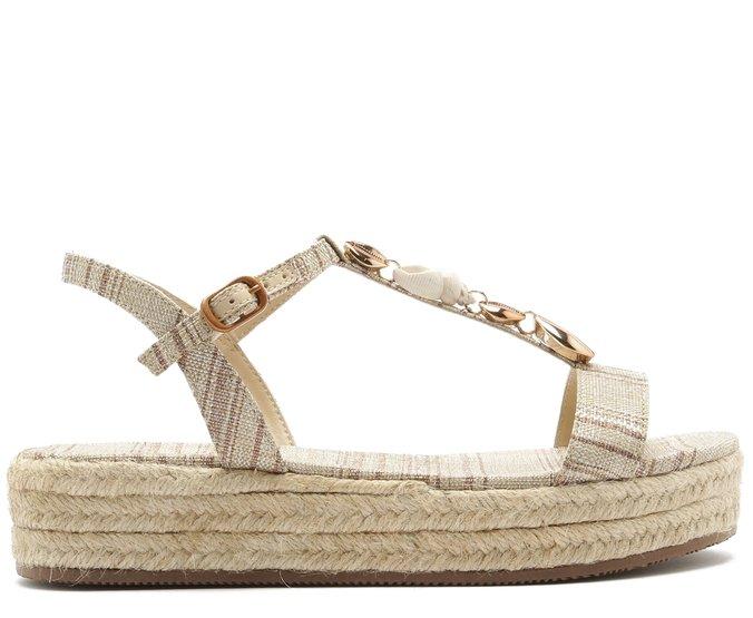 Sandália Flatform Conchas Bronze | Anacapri