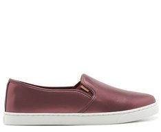 Tênis Slip On Bordô Metalizado