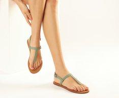 Sandália Verde Color Vibes Trançada