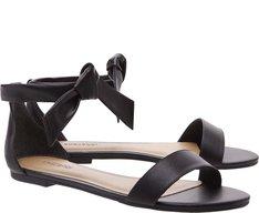 Sandália Nó Minimal Preta
