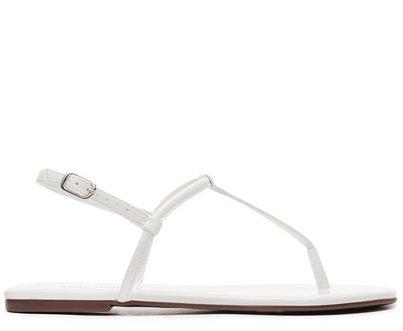 Sandália Branca Verniz Slim