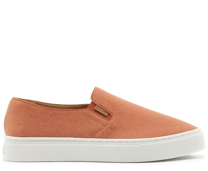 Tênis Slip On Sola Alta Acamurçado Damasco
