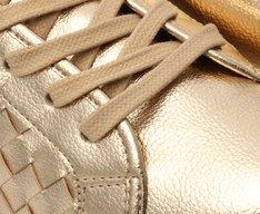 Tênis Dourado Tramado