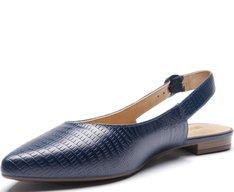 Sapatilha Slingback Lezard Azul Marinho