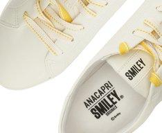 Tênis Capri Cadarço Smiley Branco e Amarelo