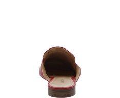 Mule Bico Redondo Fivela Vermelha