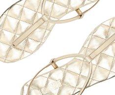 Sandália Dourada Matelassê Slim