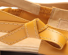 Sapatilha Amarela Slingback Laço