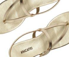 Sandália Tiras Finas Dourada