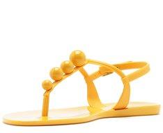 Sandália Bolinhas Amarela