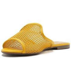 Mule Aberta Tressê Amarelo