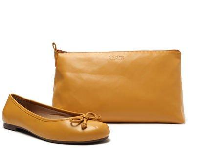 Kit Sapatilha Amarela Lacinho e Bag