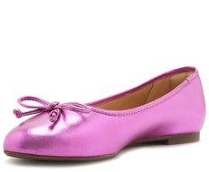 Sapatilha Laço Pink Metalizado