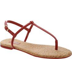 Sandália Slim Cortiça Vermelha
