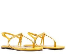 Sandália Slim Trança Amarela