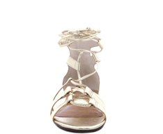 Gladiadora Lace Up Dourada