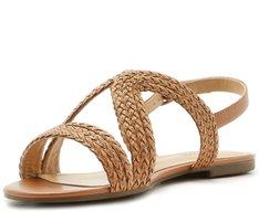 Sandália Tiras Trançadas Marrom