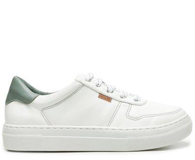 Tênis Branco Flatform Detalhe Verde