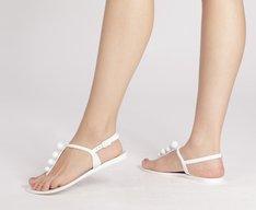 Sandália Bolinhas Branca