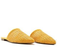 Mule Trama Rústica Amarela