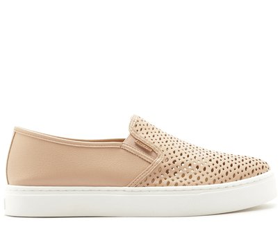 Tênis Slip On Rosa Blush Sola Alta Ana