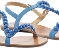 Sandália Bolinhas Azul
