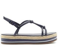 Sandália Flatform Nós Azul Marinho