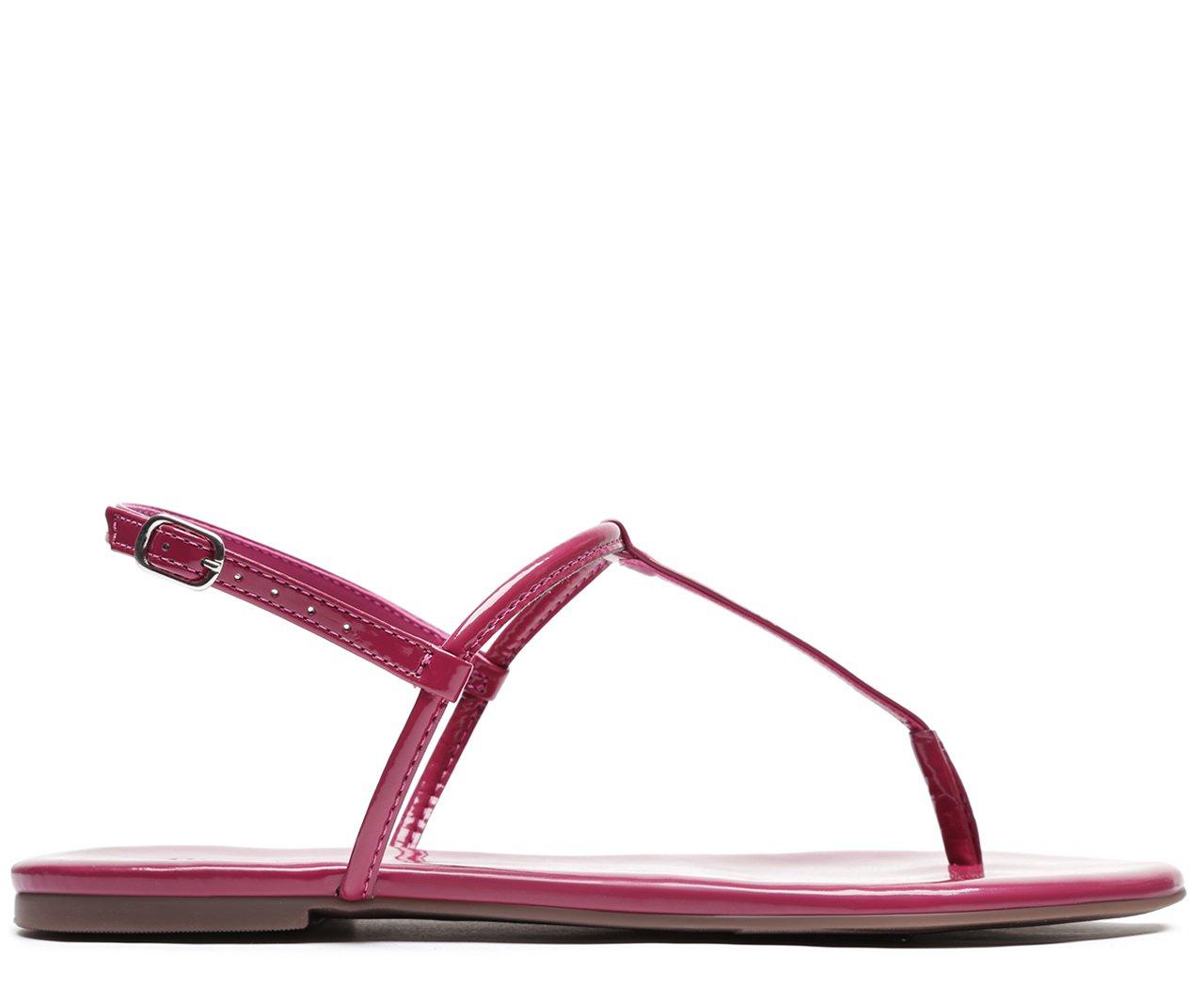Rasteira Pink Verniz Slim   Anacapri