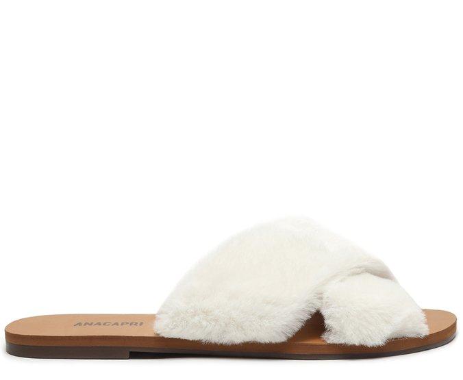 [Reposição Garantida] Rasteira Branca Tiras Comfy