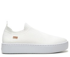 Slip On Branco Stretch