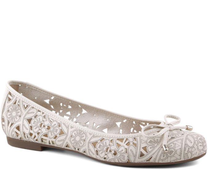 Sapatilha Floral Laser Branca