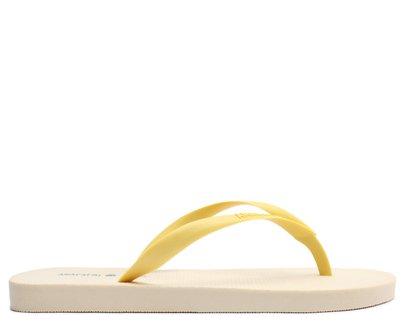 Rasteira Dedo Bege e Amarela Leite Moça