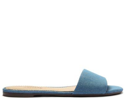 Rasteira Azul Jeans Tira Flat