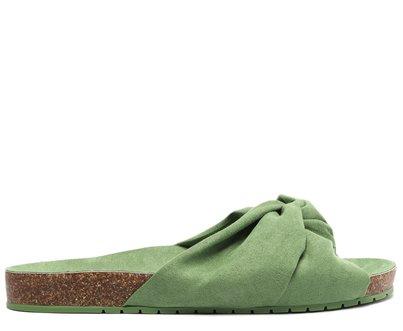 Slide Verde Oliva Tiras Nó