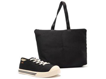 [Pré Venda] Kit Tênis Preto e Bolsa Shopping Lona