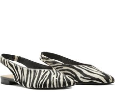 Sapatilha Slingback Zebra
