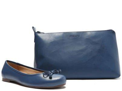 Kit Sapatilha Azul Lacinho e Bag