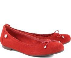 Sapatilha Básica Camurça Vermelha