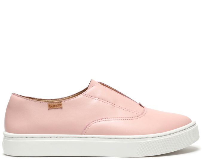 Tênis Rosa Blush Slip On New Paola